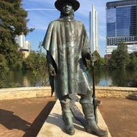 Photo taken at Stevie Ray Vaughan Statue by Ricky B. on 11/13/2016
