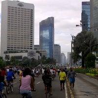 Photo taken at Jalan Jenderal Sudirman by Marsha A. on 3/10/2013