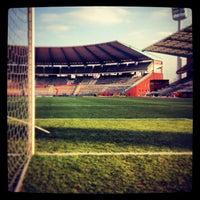 Photo taken at King Baudouin Stadium by Brecht R. on 3/26/2013
