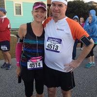 Photo taken at Obx half marathon starting line by Chris C. on 11/10/2013