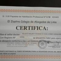 Photo taken at Colegio de Abogados de Lima by Federico K. on 5/26/2014