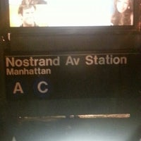 Photo taken at MTA Subway - Nostrand Ave (A/C) by Mr. E. on 11/28/2012