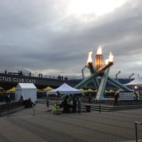 Photo taken at Jack Poole Plaza by Megan R. on 4/20/2013