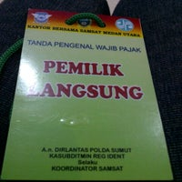 Photo taken at Samsat Medan Utara by Ria C. on 4/29/2013