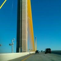 Photo taken at Sunshine Skyway Bridge by Jenny D. on 10/20/2012
