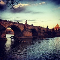 Photo taken at Charles Bridge by Evgeny S. on 4/15/2013