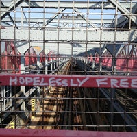Photo taken at Williamsburg Bridge by Karen S. on 6/21/2013