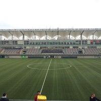 Photo taken at Estadio Bicentenario de La Florida by Pedro Marcelo V. on 7/28/2013