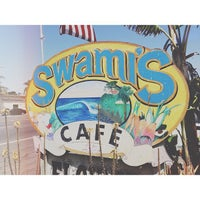 Photo taken at Swamis Cafe by Jonathan M. on 5/19/2013