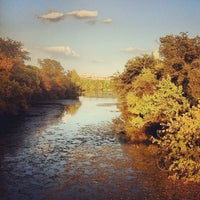 Photo taken at Barton Springs Pedestrian Bridge by Will F. on 11/5/2012