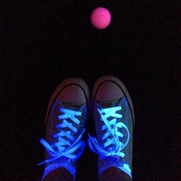 Photo taken at Putting Edge Glow-in-the-Dark Mini Golf by Angela B. on 6/11/2014