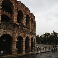 Photo taken at Arena di Verona by Dan O. on 11/4/2012