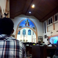 Photo taken at Gereja Katolik Kristus Raja by Dessyandi R. on 8/3/2014