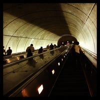 Photo taken at Woodley Park-Zoo/Adams Morgan Metro Station by James U. on 7/26/2013