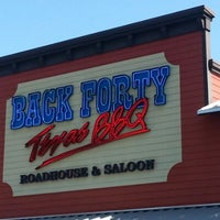Photo taken at Back Forty Texas BBQ Roadhouse & Saloon by X X. on 9/30/2012