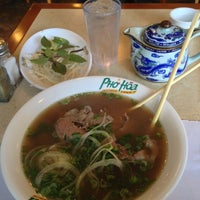 Photo taken at Pho Hoa Noodle Soup by Donnie B. on 1/15/2013