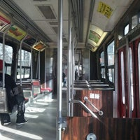 Photo taken at TTC Streetcar #501 Queen by Katie H. on 11/27/2012