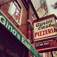 Photo taken at Gino's East by Daniel P. on 8/12/2013