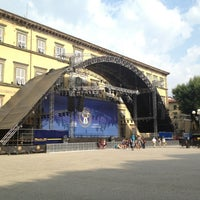Photo taken at Piazza Napoleone by Giulia D. on 7/13/2013