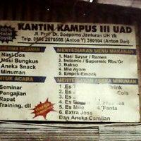 Photo taken at Kantin UAD Kampus 3 by Ben B. on 1/2/2013
