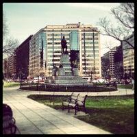 Photo taken at Farragut Square by Yavuz I. on 5/6/2013