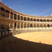Photo taken at Plaza de Toros de Ronda by Jacqueline H. on 10/2/2012