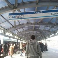 Photo taken at Avcılar Metrobüs Durağı by AbNuR on 3/29/2013
