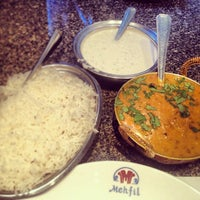 Photo taken at Mehfil Indian Cuisine by Leo J. on 5/7/2013