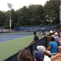 Photo taken at Court 14 - USTA Billie Jean King National Tennis Center by Moo N. on 8/23/2013