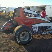 Photo taken at Canyon Speedway by Jessica V. on 10/19/2012