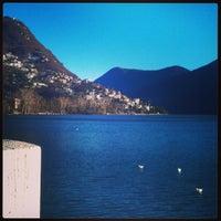Photo taken at Lago di Lugano by Andrea M. on 12/28/2012
