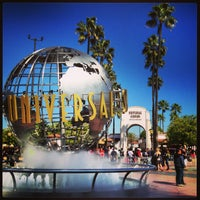 Photo taken at Universal Studios Hollywood Globe and Fountain by ダイスケ ナ. on 2/15/2013