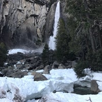 Photo taken at Lower Yosemite Falls by Kendall B. on 12/31/2016