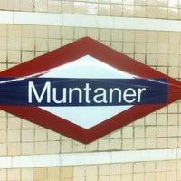 Photo taken at FGC Muntaner by Juan B. on 1/25/2013