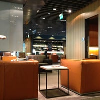 Photo taken at Lufthansa First Class Lounge by Sam W. on 3/20/2013