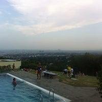 Photo taken at Krapfenwaldbad by Martin B. on 7/29/2013
