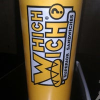 Photo taken at Which Wich? Superior Sandwiches by Justin G. on 7/4/2012