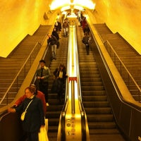 Photo taken at Metro Baixa-Chiado [AZ,VD] by Manuel M. on 2/10/2012