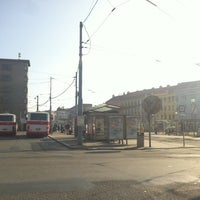 Photo taken at Mendlovo náměstí (tram, bus) by Marek Š. on 3/17/2012