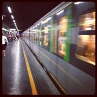 Photo taken at Metro Loreto (M1, M2) by Nick G. on 9/6/2012
