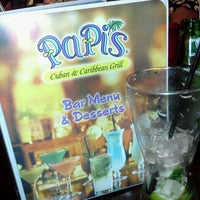 Photo taken at Papi's Cuban & Caribbean Grill by Chamir A. on 3/11/2012