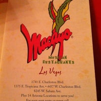 Photo taken at Macayo's Mexican Kitchen Tropicana by Noreen P. on 5/27/2012