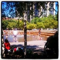 Photo taken at Jamison Square Park by Sarah P. on 8/1/2012