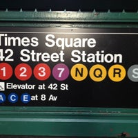 Photo taken at MTA Subway - 42nd St/Times Square/Port Authority Bus Terminal (A/C/E/N/Q/R/S/1/2/3/7) by Brian D. on 4/13/2012