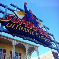 Photo taken at Superman: Ultimate Flight by Maha A. on 8/14/2013