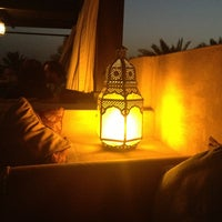 Photo taken at Rooftop Bar Bab Al Shams by Vanessa on 2/23/2013
