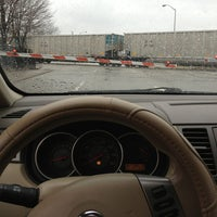 Photo taken at Railroad Crossing - New York & Pine by Ben R. on 2/27/2013