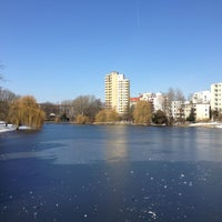 Photo taken at Lietzensee by Christoph D. on 3/16/2013