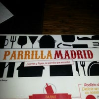 Photo taken at Parrilla Madrid by Christiano N. on 10/13/2012
