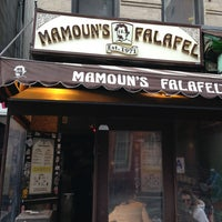 Photo taken at Mamoun's Falafel by Abdullah Z. on 3/10/2013